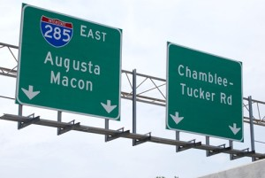 The top end of I-285, between I-20, will get variable speed limit signs and the top speed will increase to 65 miles per hour, with system tests starting in August. Photos by Lauren Ramsdell