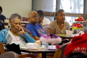 Solicitor General Sherry Boston hosted a bingo event at several senior centers around DeKalb. She said getting the seniors together for bingo provides an opportunity to educate them about the risks and signs of elder abuse. Photos by Lauren Ramsdell